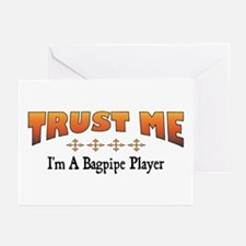 Trust Bagpipe Player Greeting Cards (Pk of 10)