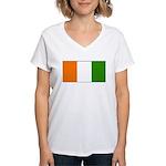 IvoryCoastblank.jpg Women's V-Neck T-Shirt