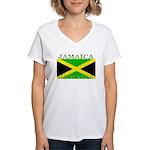 Jamaica.jpg Women's V-Neck T-Shirt
