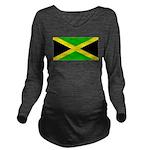 Jamaicablank.jpg Long Sleeve Maternity T-Shirt