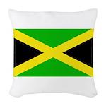 Jamaicablank.jpg Woven Throw Pillow