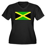 Jamaicablank.jpg Women's Plus Size V-Neck Dark T-S