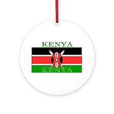 Kenyablack.png Ornament (Round)
