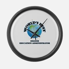 World's Best Higher Education Adm Large Wall Clock