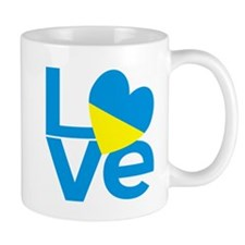 Blue Ukrainian LOVE Mugs