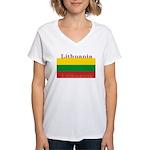 Lithuania.jpg Women's V-Neck T-Shirt