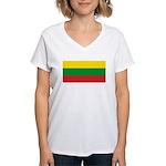 Lithuaniablank.jpg Women's V-Neck T-Shirt