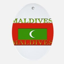 Maldives.jpg Ornament (Oval)