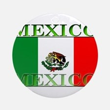 Mexicoblack.png Ornament (Round)