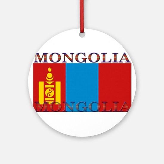 Mongolia.jpg Ornament (Round)