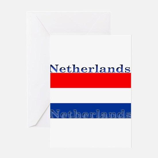 Netherlandsblack.png Greeting Card