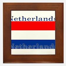 Netherlandsblack.png Framed Tile