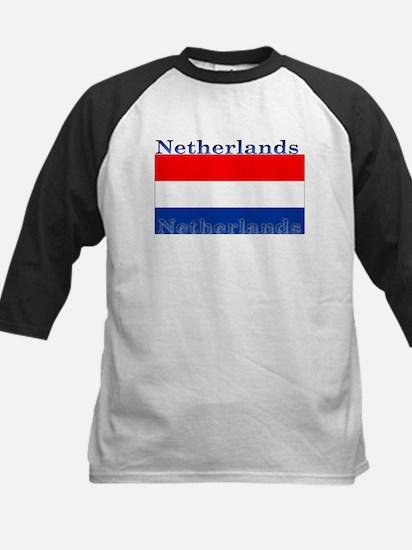 Netherlandsblack.png Kids Baseball Jersey