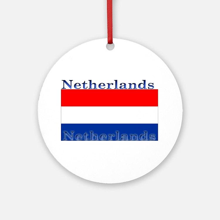 Netherlandsblack.png Ornament (Round)