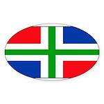 Groningenblank.jpg Sticker (Oval 10 pk)