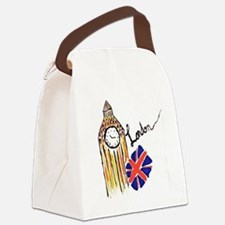 Funny London Canvas Lunch Bag