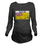 Niue.jpg Long Sleeve Maternity T-Shirt