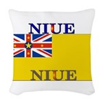 Niue.jpg Woven Throw Pillow