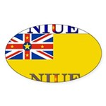Niue.jpg Sticker (Oval 10 pk)