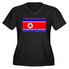 NorthKorea.jpg Women's Plus Size V-Neck Dark T-Shi