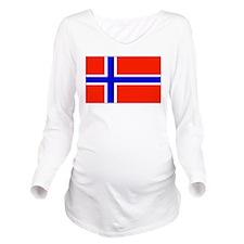 Norwayblank.jpg Long Sleeve Maternity T-Shirt