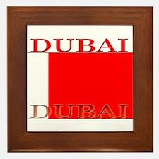 Dubai.png Framed Tile