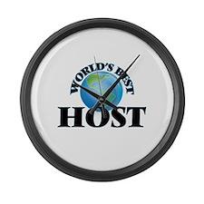 World's Best Host Large Wall Clock