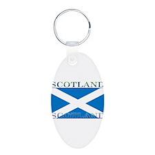 Scotland2.jpg Aluminum Oval Keychain