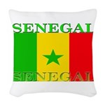 Senegal.png Woven Throw Pillow