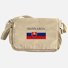 Slovakiablack.png Messenger Bag
