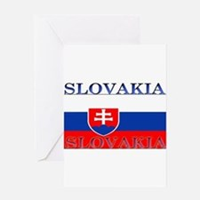 Slovakiablack.png Greeting Card