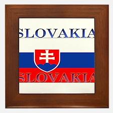 Slovakiablack.png Framed Tile