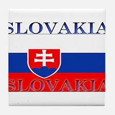 Slovakiablack.png Tile Coaster