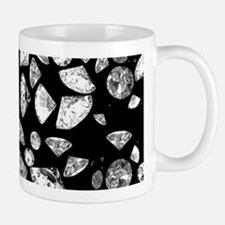 3D diamonds on black Mugs