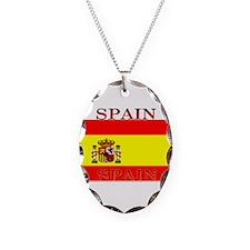 Spainblack.png Necklace Oval Charm