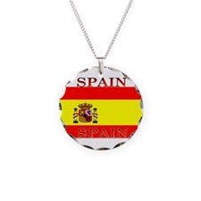 Spainblack.png Necklace Circle Charm