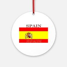 Spainblack.png Ornament (Round)