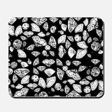 3D diamonds on black Mousepad