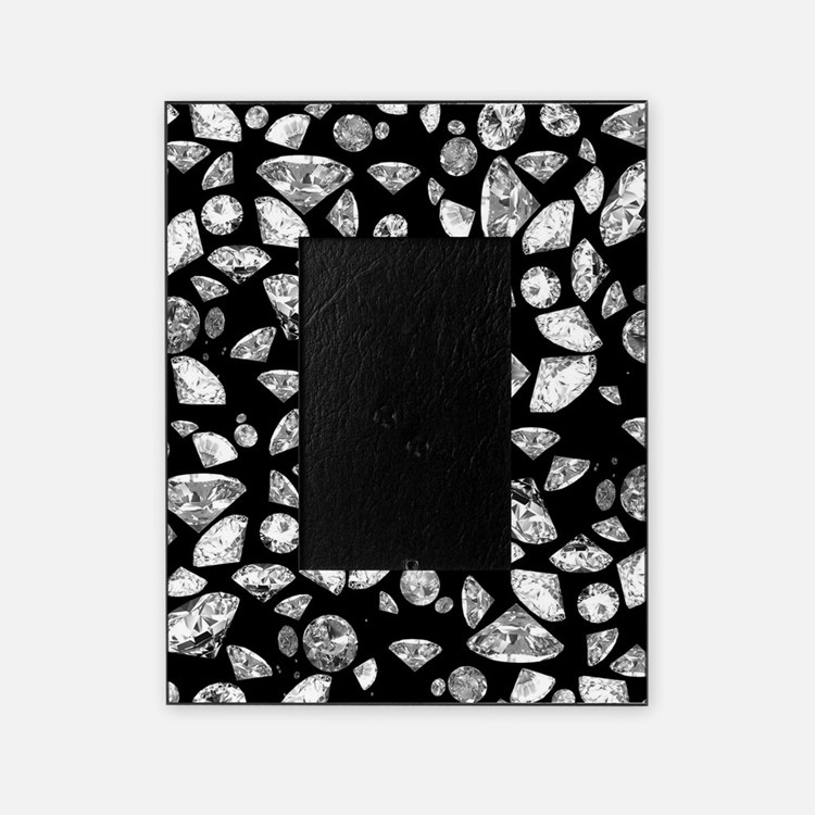 3D diamonds on black Picture Frame