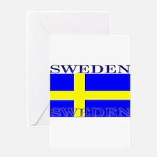 Swedenblack.png Greeting Card