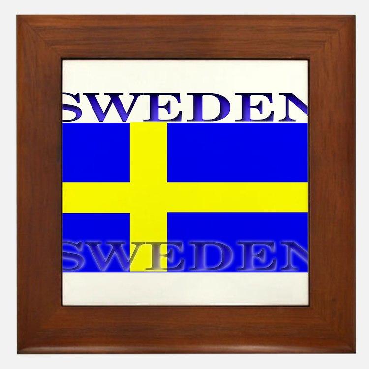 Swedenblack.png Framed Tile