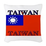 Taiwanblack.png Woven Throw Pillow