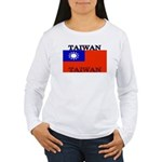 Taiwanblack.png Women's Long Sleeve T-Shirt