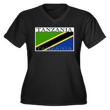 Tanzania.jpg Women's Plus Size V-Neck Dark T-Shirt