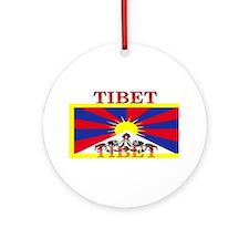 Tibet.jpg Ornament (Round)