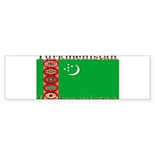 Turkmenistan.jpg Bumper Sticker