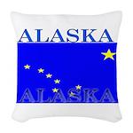 Alaska.png Woven Throw Pillow