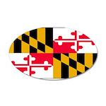 Marylandblank.png 35x21 Oval Wall Decal