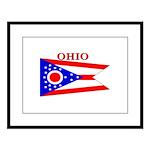 Ohio.png Large Framed Print