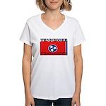 Tennessee.jpg Women's V-Neck T-Shirt